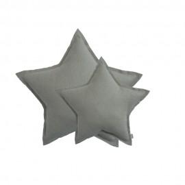 COUSSIN ETOILE COTON PAILLETTE - GRIS ARGENT - NUMERO 74