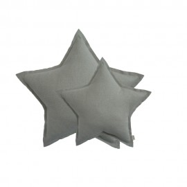 MINI STAR CUSHION SPAKLING TULLE - SILVER GREY
