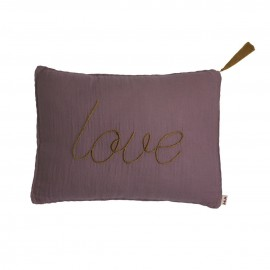 COUSSIN LILAS 40X30 CM - LOVE