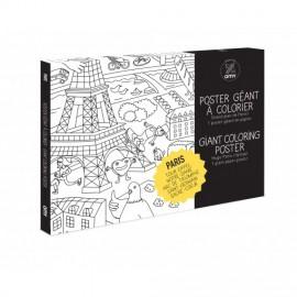 POSTER A COLORIER PARIS