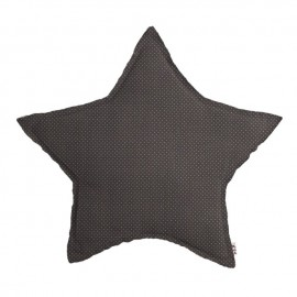 LARGE STAR CUSHION - SMALL DOTS TAUPE/BEIGE - NUMERO 74