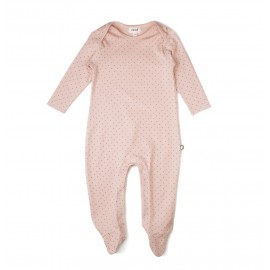 PINK AND DOTS - FOOTIE JUMPER