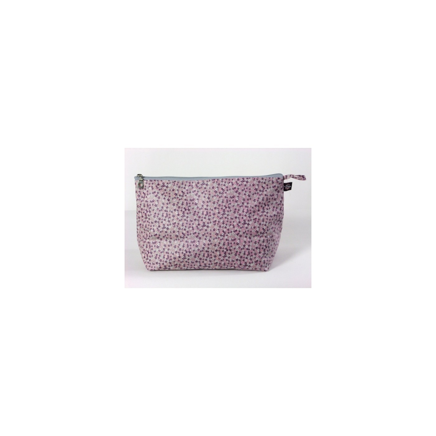 Toiletry coated cotton myosotis pink and grey yadayada for Red and grey bathroom accessories
