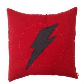 COUSSIN SUPER HERO 33X33 CM - ROUGE RUBIS