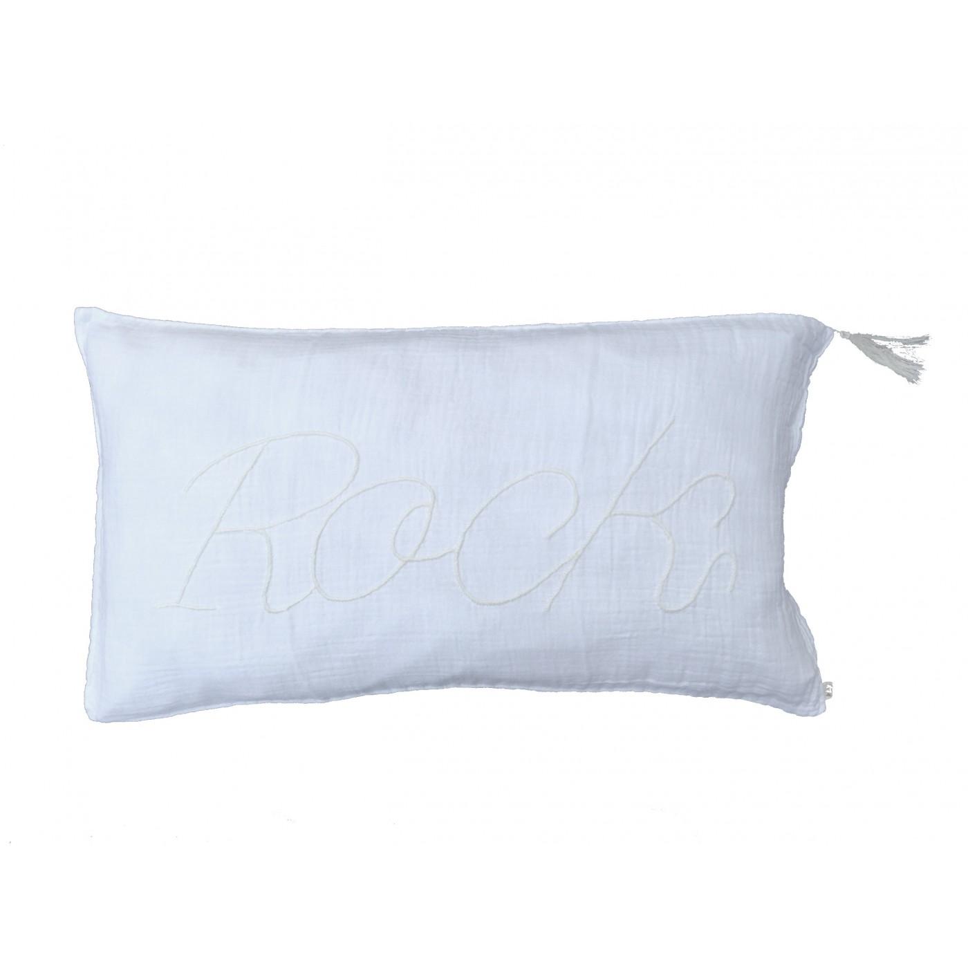 coussin blanc c 39 est blanc 40x70 rock yadayada. Black Bedroom Furniture Sets. Home Design Ideas