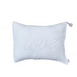 WHITE IS WHITE CUSHION 40X30CM - LOVE