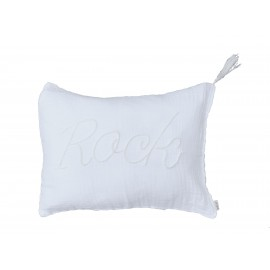 WHITE IS WHITE CUSHION 40X30CM - ROCK