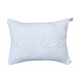 WHITE IS WHITE CUSHION 40X30CM - PEACE