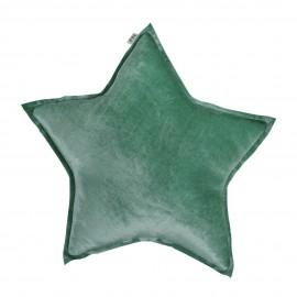 STAR CUSHION VELVET- GREEN