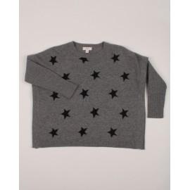 PONCHO STAR CENDRE-NOIR