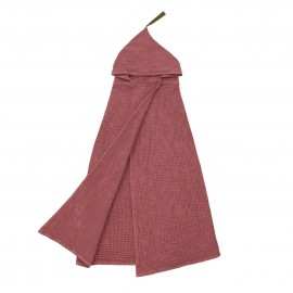 SERVIETTE PONCHO A CAPUCHE - MEDIUM- ROSE BAOBAB