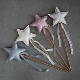 SILVER GREY STAR WAND