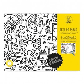 COLORING PAPER PLACEMATS - KEITH HARING