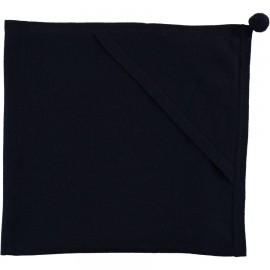 COUVERTURE A CAPUCHE EN CACHEMIRE CLEMENTINE MARINE - LES LUTINS