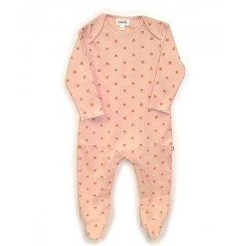 PINK AND GOLD CAT FOOTIE JUMPER