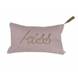 COUSSIN STARS VIEUX ROSE 40X70 - KISS