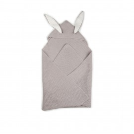 BUNNY EARS BLANKET - LIGHT GREY