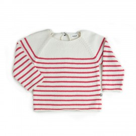 PULL MARINIERE RAYURES BLANCHES ET ROUGES