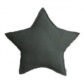 COUSSIN ETOILE - STARS VERT ET BEIGE