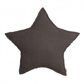 STAR CUSHION SMALLDOTS - TAUPE AND BEIGE