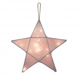 STAR LANTERN MEDIUM - DUSTY PINK