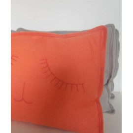 COUSSIN - SLEEPY CAT - CORAIL