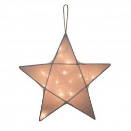 STAR LANTERN SMALL - SILVER GREY