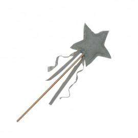 SILVER GREY CAROLINA STAR WAND