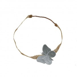 BUTTERFLY HEADBAND SILVER GREY - NUMERO 74