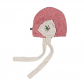 DAISY HAT - ROSE AND WHITE