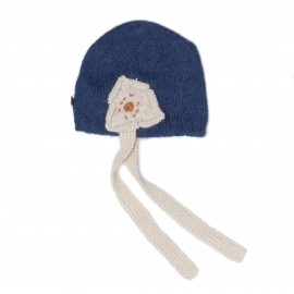 DAISY HAT - INDIGO AND WHITE