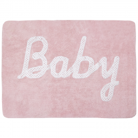 TAPIS - BABY PETIT POINT ROSE - 120X160