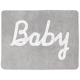 TAPIS - BABY PETIT POINT GRIS - 120X160
