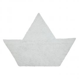 TAPIS - BARQUITO REVERSIBLE BLANC BLEU MARINE - 120X160