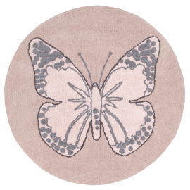 TAPIS -BUTTERFLY VINTAGE NUDE - 160
