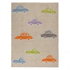 TAPIS - CARS BLEU - 120X160