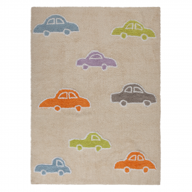 TAPIS - CARS BEIGE MULTI - 120X160