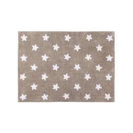 TAPIS - BEIGE ETOILES BLANCHES - 120X160