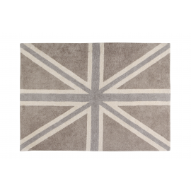 TAPIS -UK FLAG - BEIGE 140X200