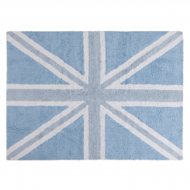 TAPIS - UK FLAG BABY BLEU - 120X160