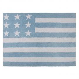 TAPIS - USA FLAG BABY BLEU - 120X160