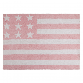 TAPIS - USA FLAG BABY ROSE - 120X160