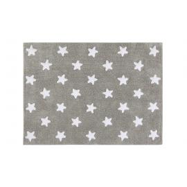 TAPIS - GRIS ETOILES BLANCHES - 120X160