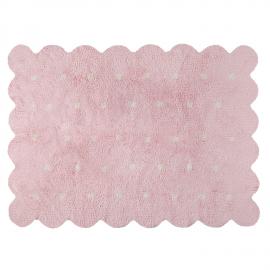 TAPIS REVERSIBLE - BISCUIT ROSE ET BEIGE - 120X160