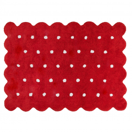 TAPIS - BISCUIT ROUGE - 120X160