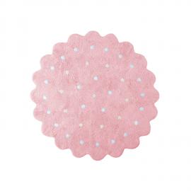 TAPIS - PETIT BISCUIT ROND ROSE - 140