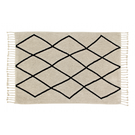 TAPIS - BLACK & WHITE - LOSANGES - 140X200