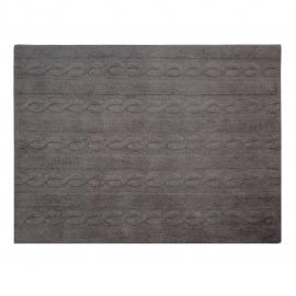 TAPIS TRESSE GRIS FONCE - 120X160