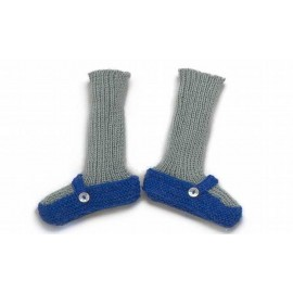 CHAUSSONS CHAUSSETTES BLEU - OEUF NYC