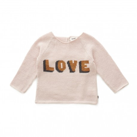 f8caf52d40 LOVE SWEATER - LIGHT PINK AND GOLD - YadaYada